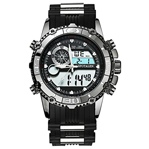 ETEVON Men's 'Galaxy' Double Buckle Stable Type Analog