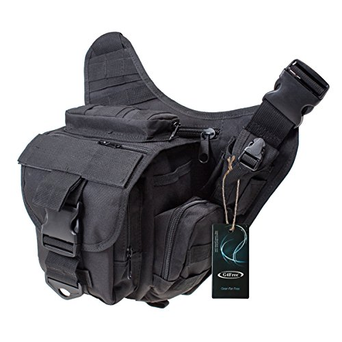 G4Free Multi-functional Tactical Messenger Bag Utility Pouch Versipack Black