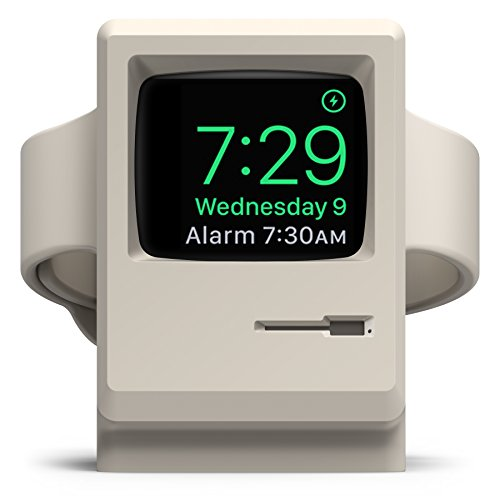 for Apple Watch Series 1, 2, and 3 – Vintage Apple MonitorSupports Nightstand ModeCable Management – elago W3 Stand Original White