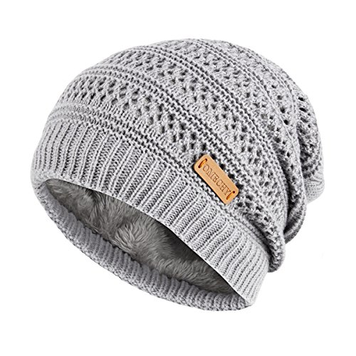 afed326b22a OMECHY Unisex Slouchy Beanie Hats Winter Warm Knit Hat Skull Ski Cap ...
