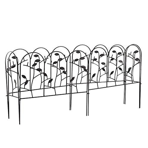 Amagabeli Decorative Garden Fence Coated Metal Outdoor