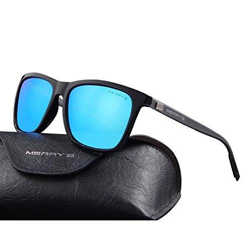a09fa633ce MERRY S Unisex Polarized Aluminum Sunglasses Vintage Sun Glasses For Men Women  S8286 Blue