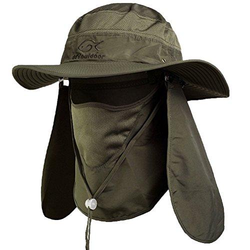 40ba5f971d999 DDYOUTDOOR trade  07-281 Fashion Summer Outdoor Sun Protection Fishing Cap  Neck Face Flap Hat Wide Brim