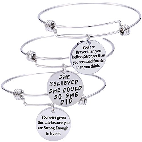 /'SHE BELIEVED SHE COULD/' CONGRATULATIONS OCCASION AFFIRMATION QUOTE PENDANT GIFT