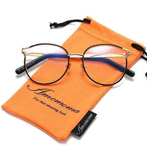 2c46164f535 Amomoma Retro Round Women Eyeglasses Eyewear Optical Frame Clear Glasses  AM5005 AM5014. This frame comes with clear lens