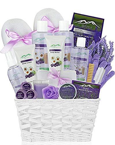 Premium Deluxe Bath & Body Gift Basket. Ultimate Large Spa Basket! #1 Spa Gift Basket for Women Lavender Chamomile