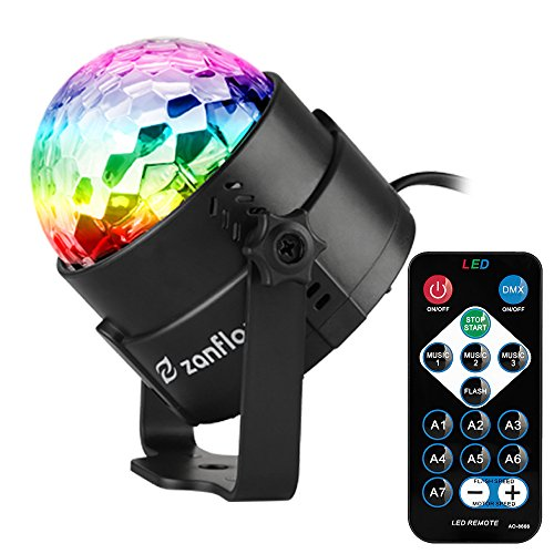 Sound Activated Party Lights with Remote Control, Zanflare 7 Lighting Color Modes Stage Par Light for Thanksgiving Day Christmas Home Dance Parties Birthday DJ Bar Karaoke Wedding Show Club Pub
