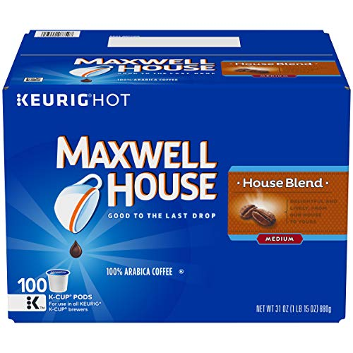 Maxwell House, House Blend Coffee, K-CUP Pods, 100 Count