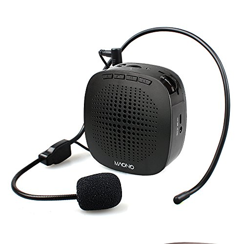 MAONO Voice Amplifier, AU-C03 Ultralight Portable Rechargeable PA System129g with Wired Microphone and Waistband for Teachers, Presentations, Coaches, Tour Guides, Market