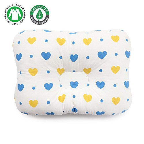 Protect Plagiocephaly Flat Head Syndrome – Unisex for Newborn & Infant – Cotton Flat Head Baby Pillow makes baby's head round – Baby Pillow