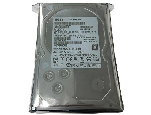 HGST Ultrastar 3TB 64MB Cache 7200RPM SATA III 6.0Gb/s 3.5in Heaty-Duty, 24/7 Internal Hard Drive for CCTV DVR, NAS, PC/MAC Renewed
