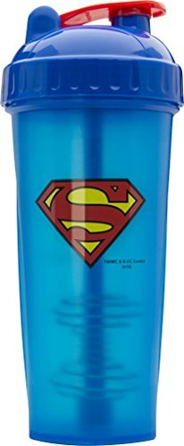 Superman Shaker Bottle, Best Leak Free Bottle With Actionrod Mixing Technology For Your Sports & Fitness Needs! Dishwasher and Shatter Proof – Performa Perfect Shaker