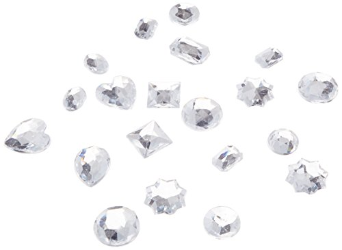 Darice 1075-20 Big One Rhinestones, Assorted Crystal