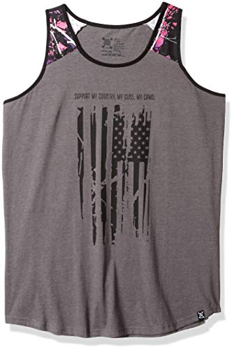 Moon Shine Camo Muddy Girl Flag Tank Top