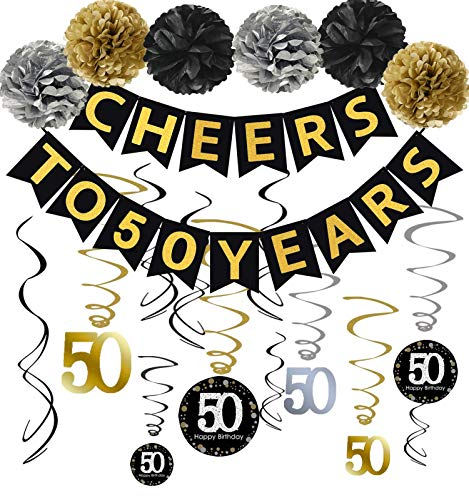 Top 10 50th Anniversary Decorations – Party Banners & Garlands
