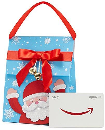 Amazon.com $50 Gift Card in a Santa Gift Bag