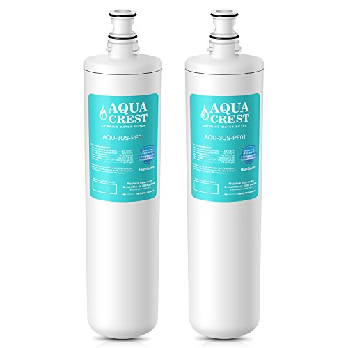AQUACREST 3US-PF01 Replacement for Filtrete Advanced 3US-PF01, 3US-MAX-F01H, 3US-PF01H, Delta RP78702, Manitowoc K-00337, K-00338 Water FilterPack of 2