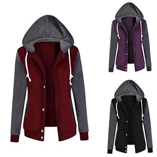 Jushye Women's Hoodies Jacket Coat, Ladies Autumn Hoody Fashion Long Sleeve Hoodie Sweatshirt Print Causal Tops Blouse