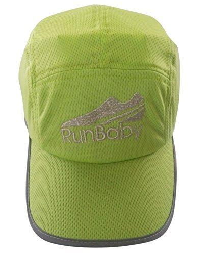 Baseball Cap – Running Hat / Sun Visor Hat for Men & Women – with Reflective Logo, Black Underbill to Reduce Sun Glare & Cool Fibre Mesh Material by Run Baby Sport baby blue