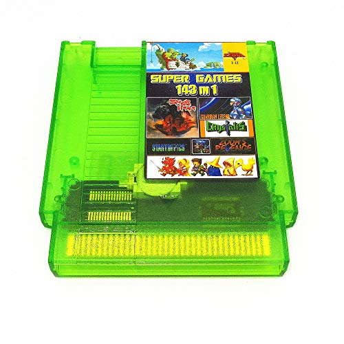 143 in 1 NES Super Games Multi Cart 72 Pin, Transparent Green, Limited Edition