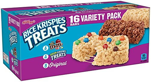 Kellogg's Rice Krispies Treats, Snack Bars Variety Pack, 16 Count Box Pack of 6