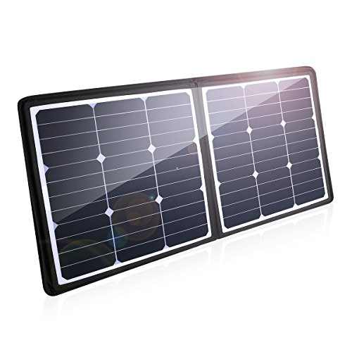 POWERADD High Efficiency 50W Solar Charger, 18V 12V SUNPOWER Solar Panel for Laptop, iPhone X / 8/8 Plus, iPad Pro, iPad Mini, MacBook, iPad Samsung, ChargerCenter, Island Region and Country Tours