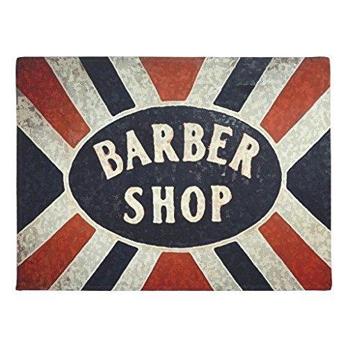 """Barbershop Sign 2 Doormat Floor Mat Rug Inside Rubber Doormat 23.6""""L x 15.7""""W"""