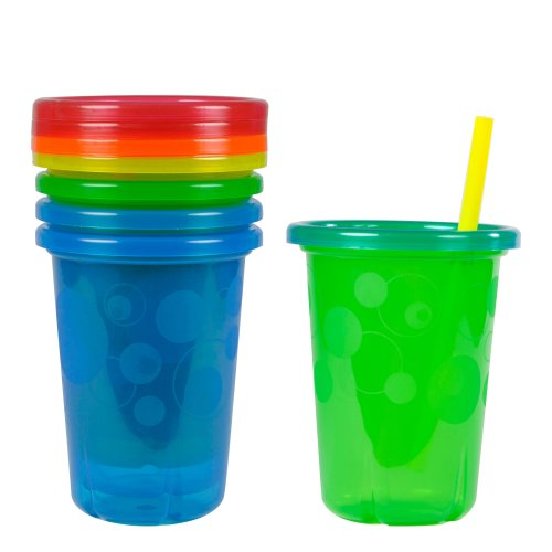 The First Years Take & Toss Spill-Proof Straw Cups 10oz, 4pk Colors May Vary