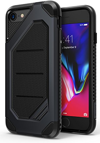 Ringke MAX Compatible with Apple iPhone 7, iPhone 8 Phone Case, Advanced Dual Layer Heavy Protection Shock Absorption Technology Stylish Armor Strength Resistant Protective Cover – Slate Metal