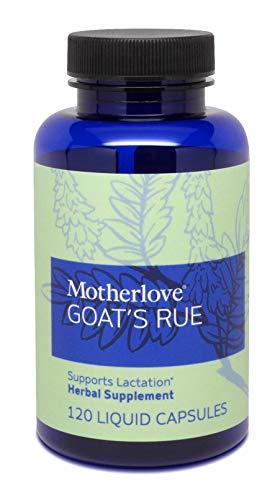 Goat's Rue, Potent Herbal Breastfeeding Supplement, Supports Mammary Tissue Development & Breast Milk Supply, Alcohol-Free Vegan Liquid Capsules with Organic Goat's Rue Herb, 120 ct. – Motherlove