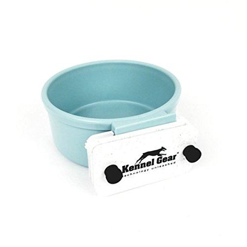 Kennel-Gear 20 oz Plastic Dog or Cat Bowl Kit, Slate Blue