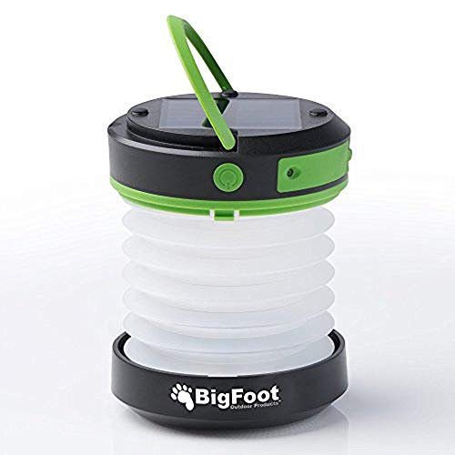 Best Solar Lantern – Best Camping Lantern – Bigfoot Outdoor Products Compact Solar Camping Lantern with USB PowerBank Great for Camping, Hiking & Go Bag – Best Emergency Light