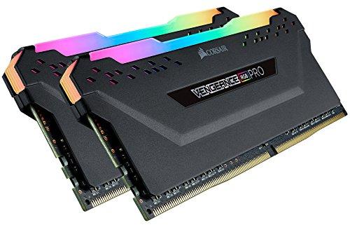 Corsair CMW32GX4M2C3200C16 Vengeance RGB PRO 32GB 2x16GB DDR4 3200 PC4-25600 C16 Desktop Memory Black