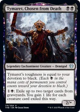 Top 4 Tymaret, Chosen from Death – Collectible Card Game Singles