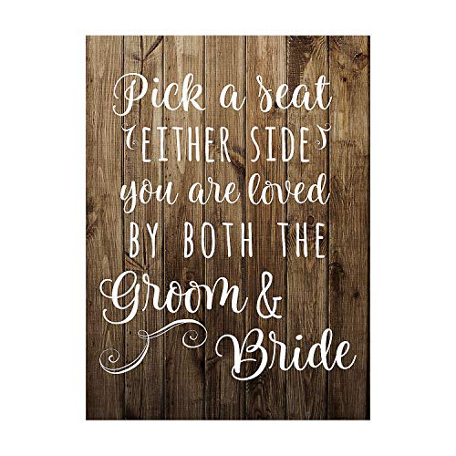 Top 10 Rustic Wedding Sign – Kids' Party Decorations