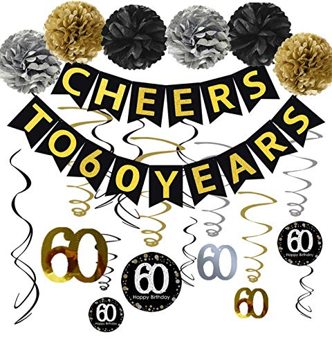 Top 8 60th Birthday Decorations for Men – Party Banners & Garlands
