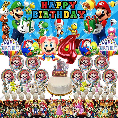 Top 6 Mario Birthday Party Supplies – Kids' Party Tableware
